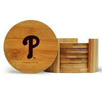 Philadelphia Phillies 6-Piece Bamboo Coaster Set