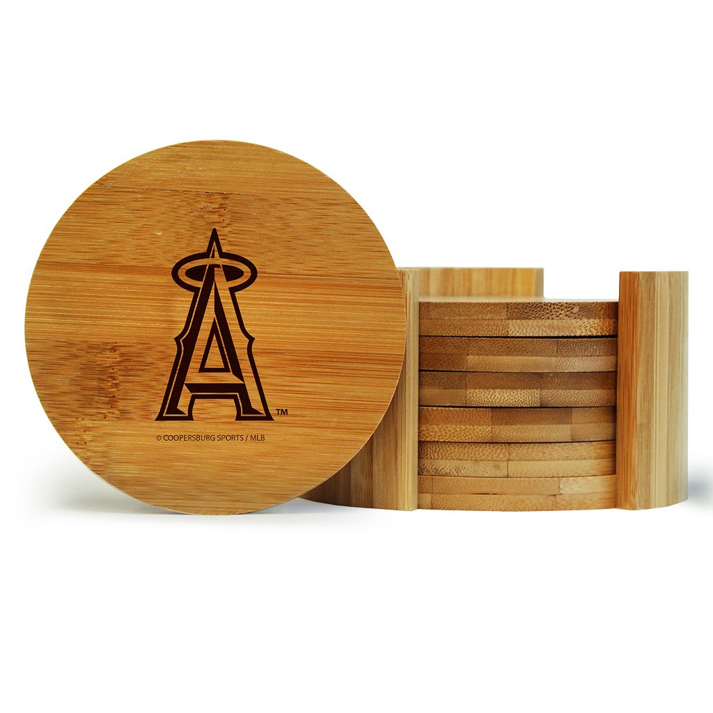 Los Angeles Angels of Anaheim 6-Piece Bamboo Coaster Set