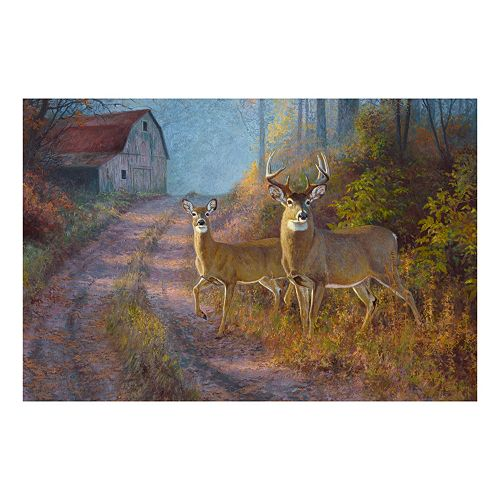 Reflective Art Sunday Stroll Canvas Wall Art