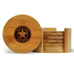 Houston Astros 6-Piece Bamboo Coaster Set