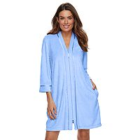 Women's Croft & Barrow® Zip-Front Wicking Terry Robe