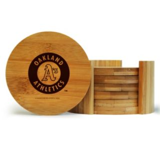 Oakland Athletics 6-Piece Bamboo Coaster Set