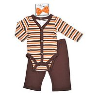 Baby Boy Vitamins Baby Thanksgiving Bodysuit, Pants & Bowtie Set