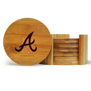 Atlanta Braves 6-Piece Bamboo Coaster Set