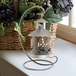 LumaBase Elegant Metal Tabletop Candle Lantern 2-piece Set