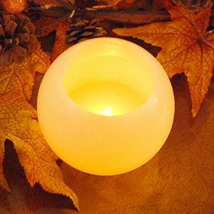 """LumaBase 4"""" Ball LED Candle 2-piece Set"""