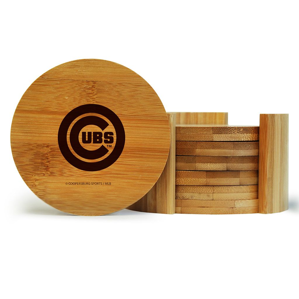Chicago Cubs 6-Piece Bamboo Coaster Set