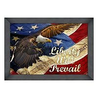 Reflective Art ''Liberty Will Prevail'' Framed Wall Art