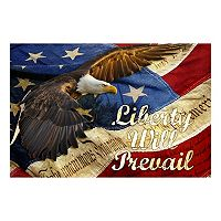 Reflective Art ''Liberty Will Prevail'' Canvas Wall Art