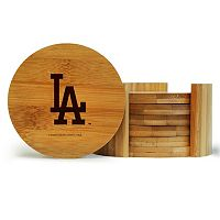 Los Angeles Dodgers 6-Piece Bamboo Coaster Set