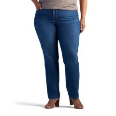 Plus Size Lee Giselle Straight-Leg Jeans