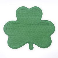 Celebrate St. Patrick's Day Together Quilted Shamrock Placemat