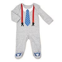 Baby Boy Vitamins Baby Tie & Suspenders Coverall