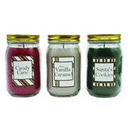 LumaBase 18-oz. Holiday Candle 3 pc Set