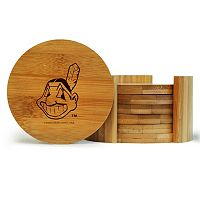 Cleveland Indians 6-Piece Bamboo Coaster Set