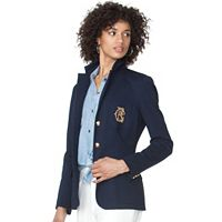 Petite Chaps Crest Button-Down Blazer