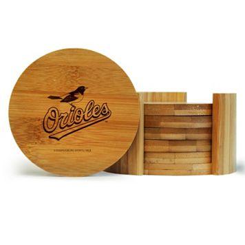 Baltimore Orioles 6-Piece Bamboo Coaster Set