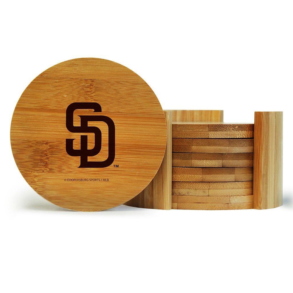 San Diego Padres 6-Piece Bamboo Coaster Set