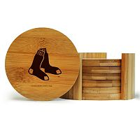 Boston Red Sox 6-Piece Bamboo Coaster Set
