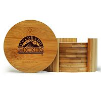 Colorado Rockies 6-Piece Bamboo Coaster Set