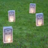 LumaBase Tombstone Timer Luminaria Outdoor Decor 6 pc Set