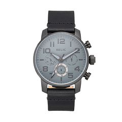 Relic Men's Benjamin Leather Watch