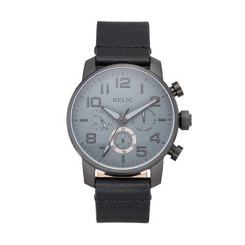 Relic Men's Benjamin Leather Watch