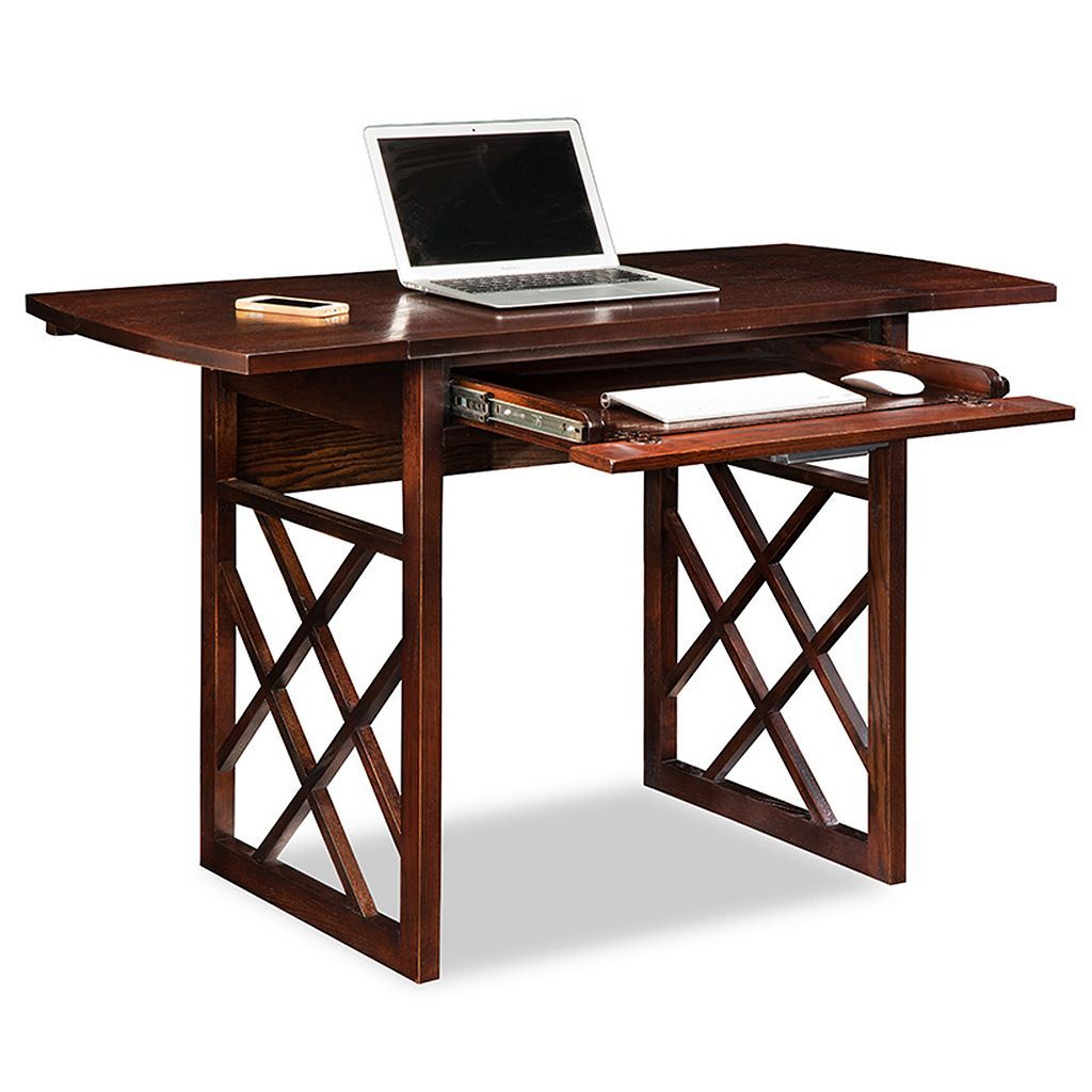 Leick Furniture X-Frame Drop Leaf Desk
