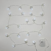 LumaBase Solar Wire Star String Light 2-piece Set