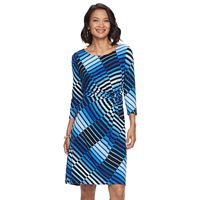Women's Dana Buchman Printed Knot-Front Dress