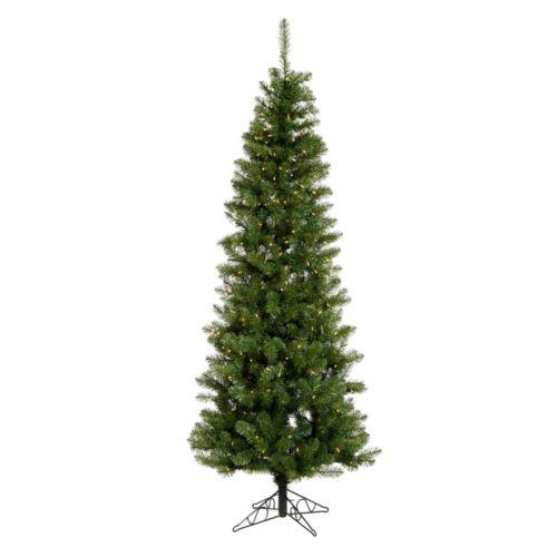 Vickerman 7.5-ft. Pre-Lit Salem Pencil Pine Artificial Christmas Tree