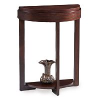 Leick Furniture Demilune Cherry Finish Entryway End Table