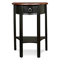 Leick Furniture Demilune Slate Finish Entryway End Table