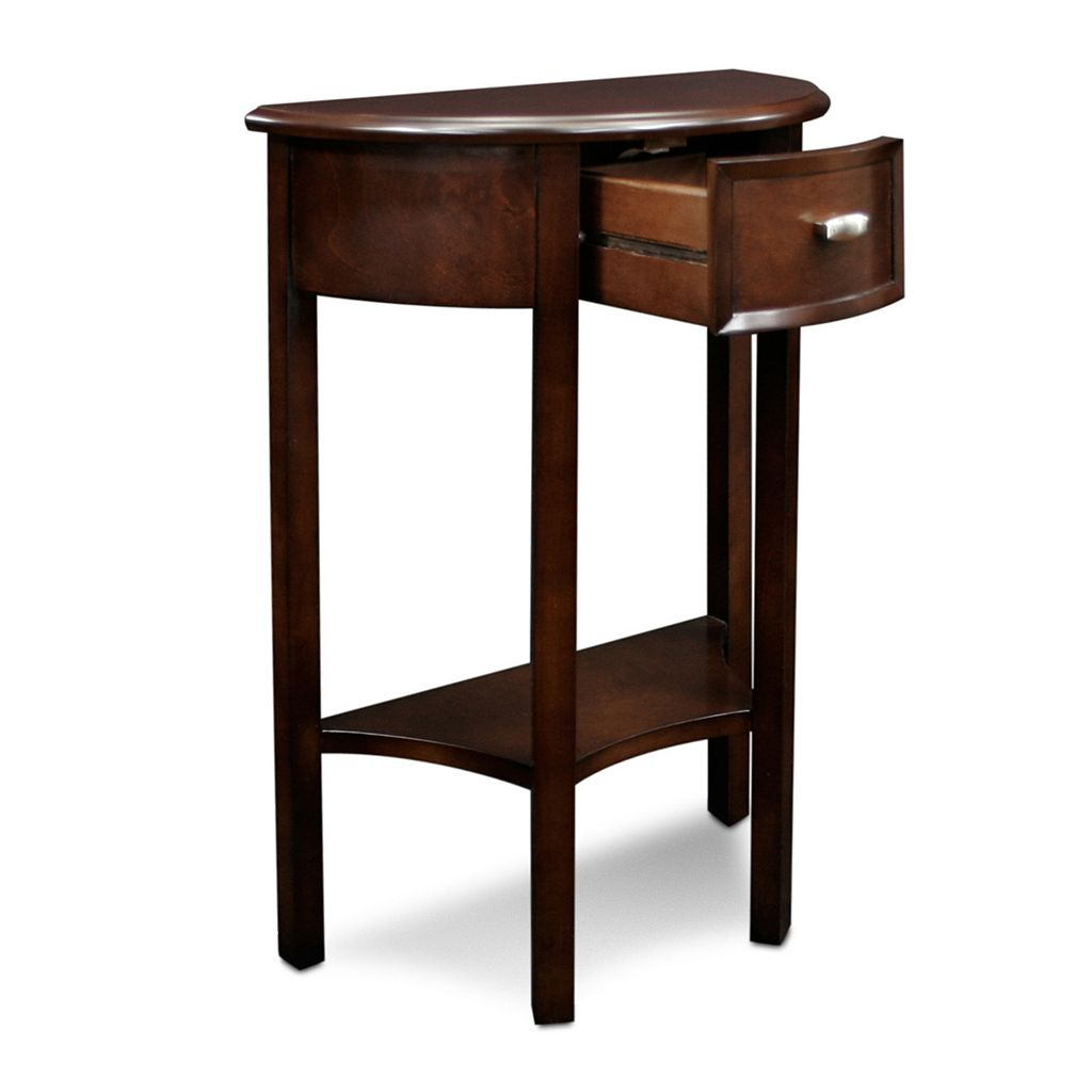 Leick Furniture Demilune Classic Entryway End Table