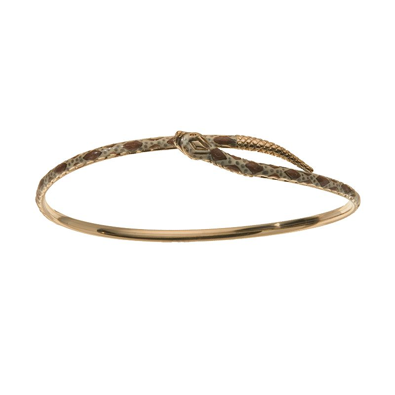 Bangle Bracelets Gold Overlay Gold Snake Bangle Bracelet