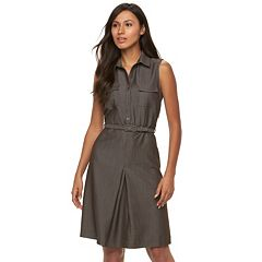 Women's Sharagano Pleated Shirtdress