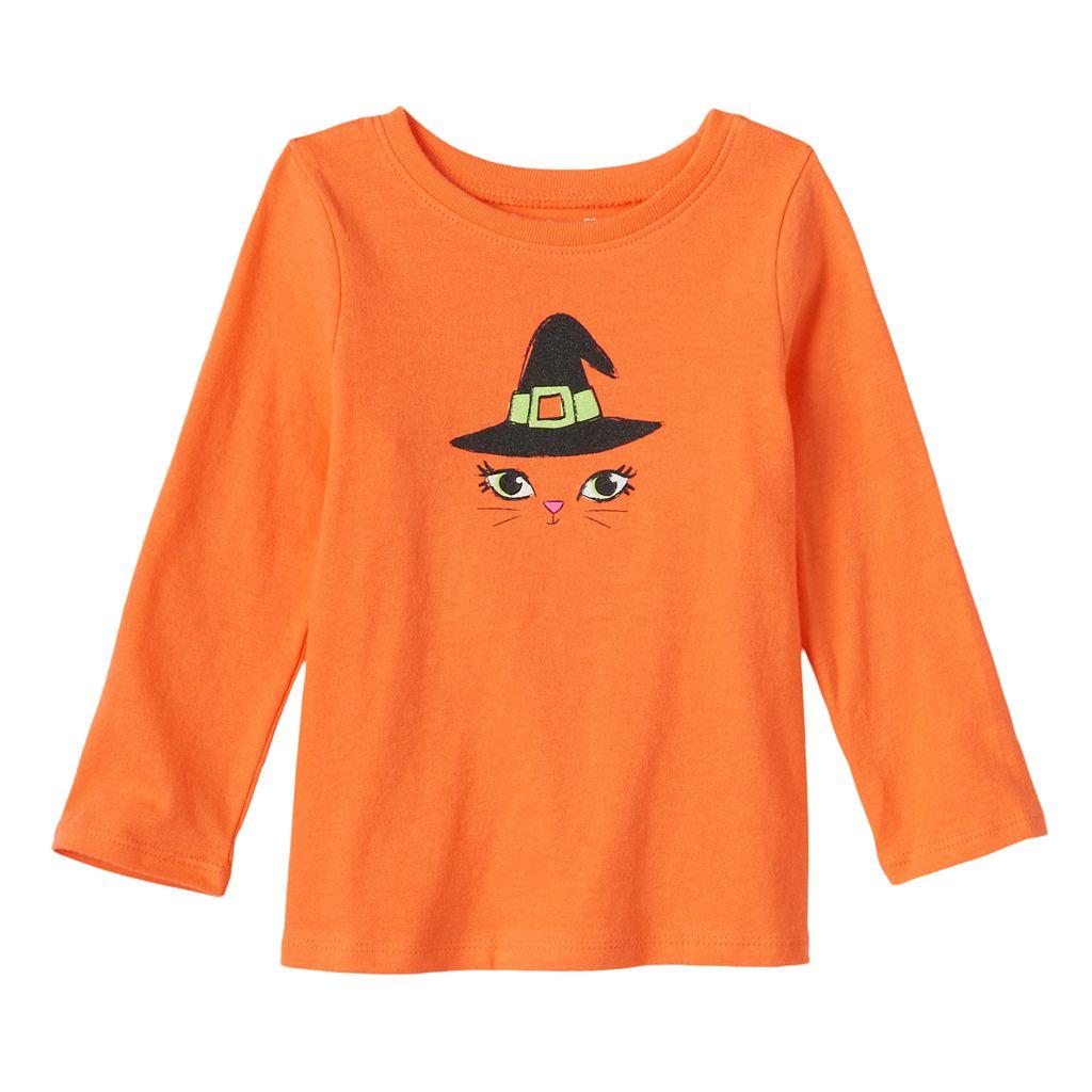 Baby Girl Jumping Beans® Glittery Halloween Tee