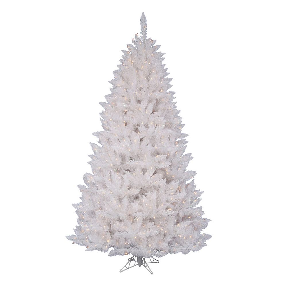 pre lit sparkle white spruce artificial christmas tree - White Fake Christmas Trees