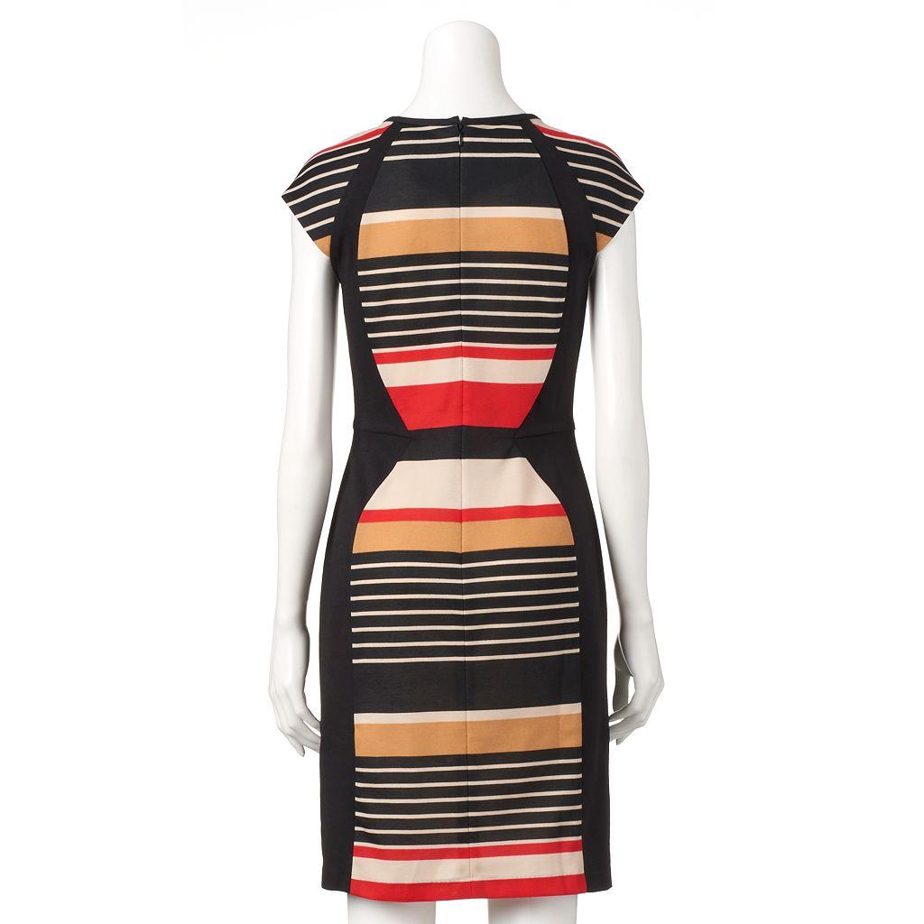 Women's Ronni Nicole Colorblock Striped Sheath Dress