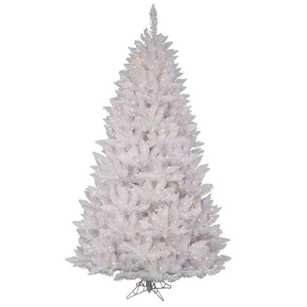 Vickerman 7 5 Ft Pre Lit Sparkle White Spruce Artificial Christmas Tree