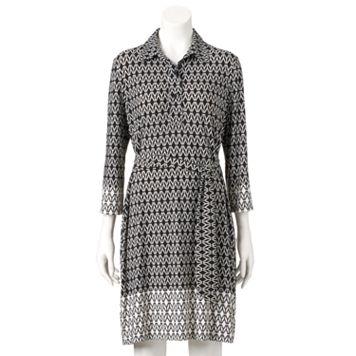 Women's Ronni Nicole Geometric Shirtdress