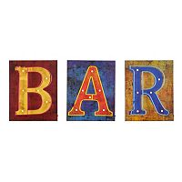 Vance LED Bar Sign Wall Decor 3-piece Set
