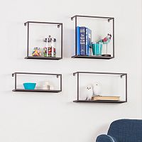 Holly & Martin Zyther Metal Wall Shelf 4-piece Set