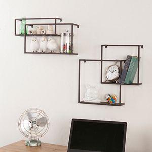 Holly & Martin Zyther Metal Wall Shelf 4-piece Set
