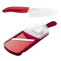 Kyocera 5.5-in. Ceramic Santoku Knife & Mandoline Slicer Set