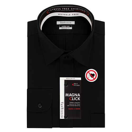 Men's Van Heusen Regular-Fit Magna Click Spread Collar Dress Shirt