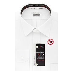 Men's Van Heusen Regular-Fit Magna Click Spread Collar Dress Shirt
