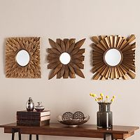 Linburg Decorative Wall Mirror 3 pc Set
