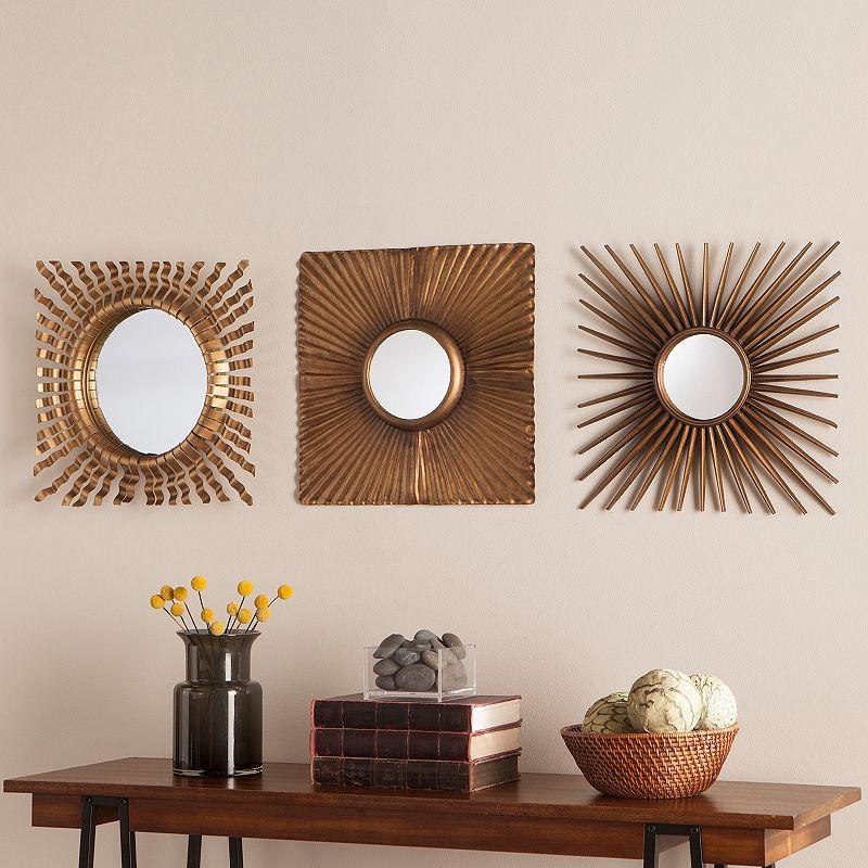 3 piece wirework wall mirror set