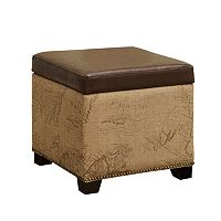 Armen Living Map Storage Ottoman